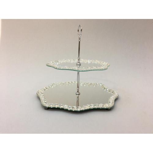Kristal Katlı Şekerlik Bulut  Gümüş