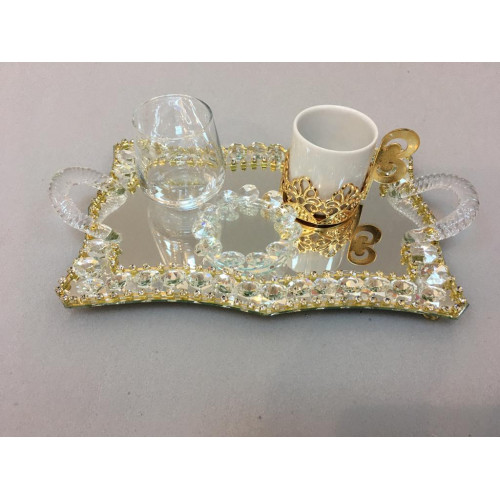 Kristal Damat Seti Dalgalı Gold