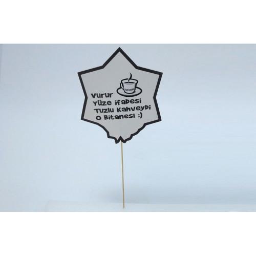 Konuşma Balonu Vurur Yüze İfadesi Tuzlu Kahveydi O Bitanesi