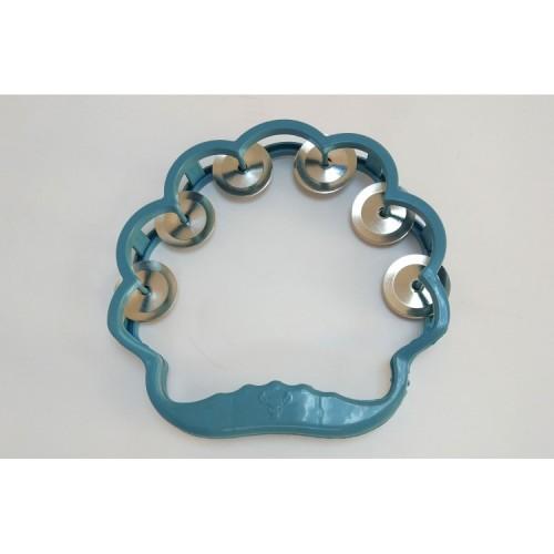 Mavi Şekilli Plastik Tef